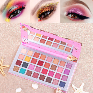Роза Водонепроницаемая Eyeshadow Palette Макияж 32 цвета Silky Eye Shadow Matte Shimmer Eye Shadow Ice Cream Earth Color Eyeshadow хорошее качество