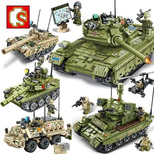 SEMBO Military Army Action Figures Type 85 59 Main battle Tank Vehicle Model Building Block kits kids Educational Toys Gift