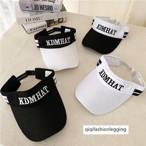 Letter sunscreen travel black and white sun hat tennis cap sports running empty hat outdoor baseball cap summer