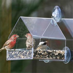 Parrot Wellensittich Canary Aviary Transparent Window Außenvogelfutterspender für Vögel Futterbehälter für Lebensmittel Pigeon Pet Supplies