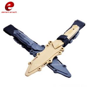 Escalada de excursión que acampa Los entusiastas del regalo de cumpleaños CS Cosplay Prop táctico Cuchillo de combate de entrenamiento de goma Modelado cuchillo de envoltura de la MOD