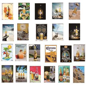 Bar Pub Cafe Dekorasyon Sanat Plak Vintage Ev Dekorasyonu DH002 için Corona Extra Bira Poster Metal Metal Tabelalar Retro Duvar Etiketler