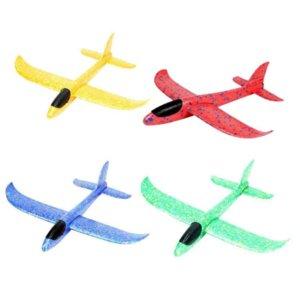 37 centímetros de espuma Avião Avião Brinquedos mão que joga Epp Lançamento Glider flexível Plane Toy Crianças dom gratuito Fly Avião enigma Modelo Toyhdh