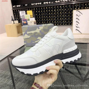 Homens Camuflagem calçados esportivos elemento casuais Low-top altura grossos sapatos de sola sportswear rendas-up aumentando sapatos, com embalagem original