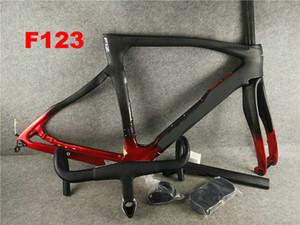 Cadre F12 1k frameset vélo carbone + La plupart guidons route vélo Cadre de vélo de carbone 80 types frameset logo