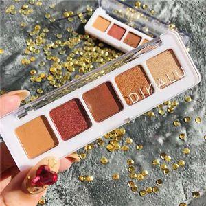 Hot Eyeshadow DIKALU Mini Sunset Palette 5 eye shadow palette Eye cosmetics 5 colors free shipping