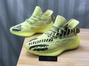 2020 Nuevo hombre de All Star de los zapatos corrientes 3M estático V3 Kanye West V6 zapato semi amarillo crema Blanco Negro Deportes Seankers de diseño para hombres Des Chaussures