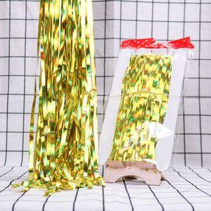 Натальные новогодние украшения для дома 2M / 3M Радужный фон Фольга Шторы Гирлянда Новый год 2020 Декор Noel Navidad Аксессуары