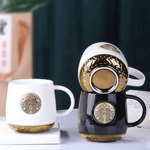 Starbucks Barware 14 oz Logo Bronze Céramique Café Gold Cup Mermaid échelle de base de fond de la Coupe pour cadeau