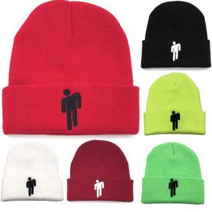 Billie Eilish Kadınlar Erkekler Yumuşak Stretch Örgü Pom kasketleri Şapka Kadın Skullies kasketleri Kız Kayak Cap WX9-1598 İçin Yetişkin Sıcak Kış Şapka