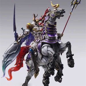 Play Arts Kai PA Kai Ancient God Fights FF13 Odin Movable Figure Model Toy Color Box Garage Kits