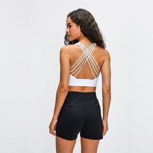 Sexy Yoga Bra Mulheres acolchoado Sports Bra Agite prova Correndo Workout Gym Top tanque aptidão camisa Vest