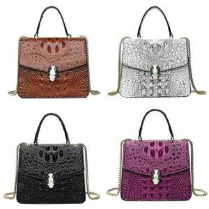 Luxury Classic Genuine Leather Lady Messenger Bags Fashion Love Heart V Wave Pattern Satchel Designer Bag Chain Shoulder Bag#344