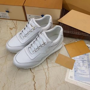 Designer Luxury Mens Womens Casual Fitness Shoes Chaussures Fashion White Leather Comfortable Shoes Flat Leisure Sneaker dx0504