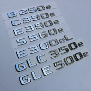 Nouveau Mercedes Benz B250e C350e E350E S560e E300el GLC350e GLE500e ARRIÈRE BADGE Emblem Boot Logo Classe C W205 S205