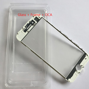 Cold Press Replacement LCD Front Touch Screen Glass Outer Lens with frame OCA film for iphone 8 7 6 6s plus 5s 5g 5c