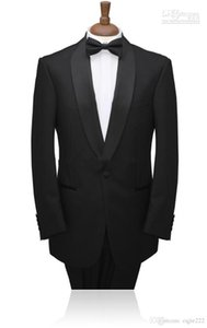 Nouveau single-breasted Personnaliser Tuxedos Groom Costumes Châle Revers Meilleur Homme (Veste + Pantalon + Cravate) 137
