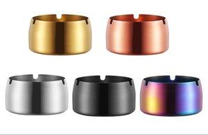 430 posacenere in acciaio inox 3 misure stile semplice antivento posacenere per auto posacenere in titanio con 3 fori