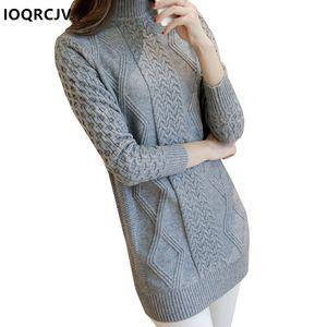 Primavera Mulheres Autumn Sweater Pullover Básico Rib sólido elástico Turtleneck Knitwear Feminino Jumper manga comprida Camisolas IOQRCJV F65
