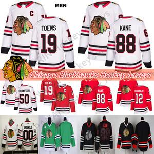 Чикаго Блэкхокс Джерси 19 Toews 88 Кейн 2 Данкан Кит 12 Алекс DeBrincat 50 Кори Кроуфорд 00 Clark Griswold Хоккей Трикотажные