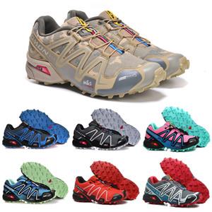 Salm Speedcross 3 CS Trail Running-Schuh-Schwarz-Rosa-Speed-Kreuz III Frauen Mens Trainer wasserdichten Outdoor-Sport-Turnschuhe 36-46
