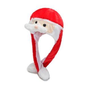 Beard Movendo Crianças Cap Adorável Chapéu do Natal Chapéu de Santa dos desenhos animados Plush Masquerade Carnaval Cap Natal Adulto Cosplay Acessórios HHA1035