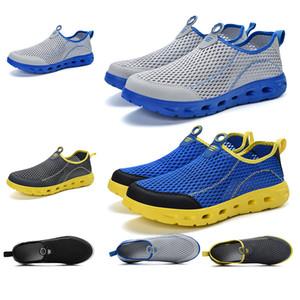 delle donne degli uomini traspirante estate scivolare su scarpe da corsa Guadare pattini del progettista addestratori scarpe da ginnastica di marca fatta in casa Made in China 39-44