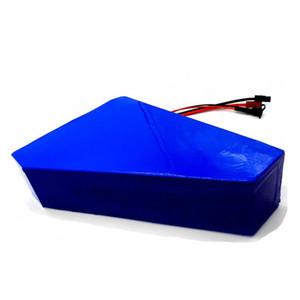 Triângulo 72V 20AH lítio de iões de lítio com o saco Ebike Bateria 72V 2000W 3000W Eléctrica bicicleta bateria com 50A BMS 5A Carregador