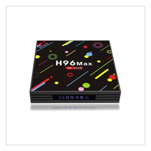 H96 Android 7.1 TV Box 4G+64GB Max 4K Display Screen RK3328 UHD Quad-Core WiFi Ultra HD H.265 Bluetooth TV Box
