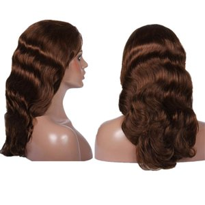 VMAE Arrival Body Wave Full Lace Wigs Human Hair Light Brown #4 Pre Plucked With Baby Hair Brazilian Hair 130 150 180 Density