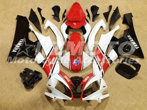 Kits de carénage complets en ABS de qualité OEM pour YAMAHA YZF-R6 06-07 YZF600 2006 2007 R6 Ensemble de carrosserie Custom White Red