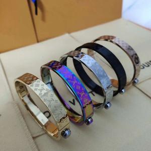 Высокого качество Горячей продажи 316L Titanium стальной лента 5 цвета манжета для женщин штрафа ювелирных изделий браслета свадебного подарка