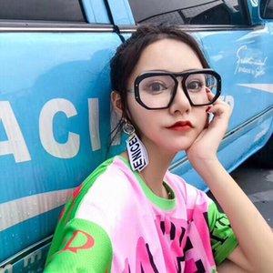 Atacado-CE Designer De Mulheres De Luxo CE400251 Óculos De Sol Envoltório Designer De Proteção UV Modelo Unisex Grande Quadro De Leopardo Cor Dupla Quadro