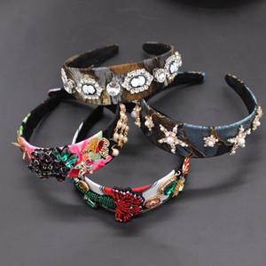 Barok moda saç bandı enfes beş köşeli yıldız güzellik kafa geometrisi mahkeme saç bandı Güzellik atış mizaç 897