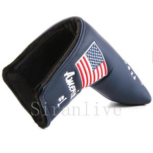 Abdeckungen 1pc Blatt für Golf Scotty Cameron Putter USA Flag Red Super-Bienen-Stickerei
