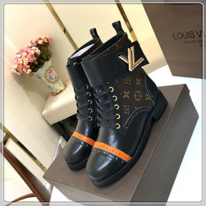louis vuitton LV Luxe Catwalk en cuir véritable conception semelle épaisse court Bottes Mules femmes court-circuitent la personnalité Bottes bottes sauvages Femmes Martin