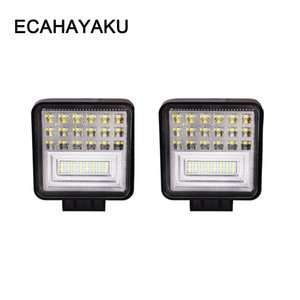 ECAHAYAKU 2 pezzi 4 pollici LED Work Light Bar 126W Combo Beam 12V 24V Off-Road 4WD ATV UTV UAZ UTE Moto Moto Car styling