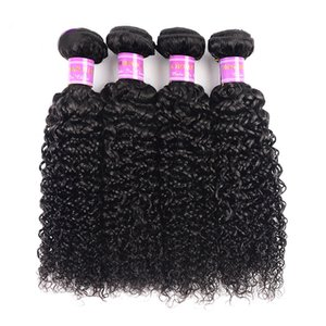Brazilian virgin human hair wefts bundles Kinkly Curly natural color 100% unprocessed hair weaves extensions 8 -28 inch drop shipping