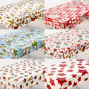 Christmas Diy Print Creative Tablecloth Pvc Christmas Table Table Cloth New Desktop Tablecloth Disposable Scrae