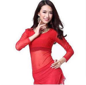 Étoile Arrivée Arrivée Crystal Coton et Mah Belly Dance Top Momen manches longues Tops 9 couleurs Sexy FM5128-1
