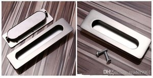 2019 Polished Golden high quality Zinc alloy simple Concealed handle kitchen drawer furniture hardware pull pitch row 64 96 128mm #431