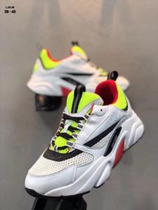 A estrenar las zapatillas de deporte del estilo de los zapatos ocasionales 2019 de alta calidad de la zapatilla de deporte de lujo Homme B22 deportes al aire libre de malla transpirable Trainer hombres \ 's EU40-45