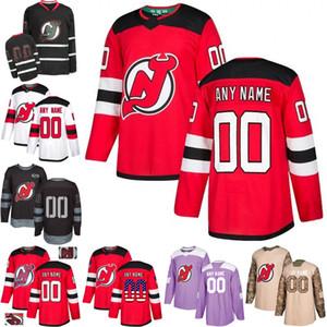 De Hombres Mujeres Jóvenes New Jersey Devils Taylor Pasillo PK Subban Nico Hischier Taylor Pasillo Cory Schneider Hughes hockey Jersey cosida S-3XL