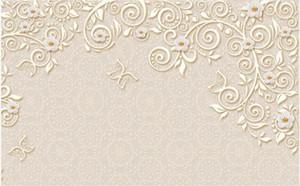 Пользовательские фото Обои для стен 3D фрески обои Алмаз Жемчужина цветок романтический красивый европейский ТВ фон обои домашний декор