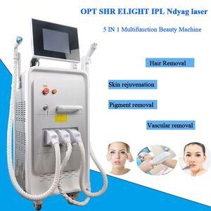 ipl laser de rejuvenescimento facial máquinas de depilação permanente uso doméstico remoção de tatuagem nd yag DHL transporte livre