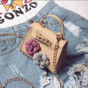 Mesdames Floral Mini sac à main Version coréenne de mode chaîne portable Messenger épaule fleur Crossbody Minin Sac Cadeaux Cute Girls