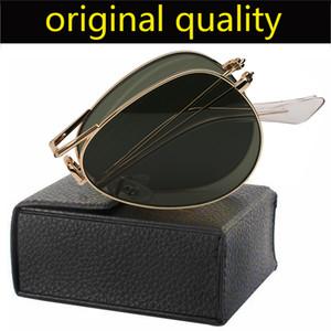 أعلى درجة معدنية الإطار خمر للطي النظارات الشمسية النساء الرجال لتعليم قيادة السيارات طوي التدرج rd3479gafas UV400 الطيار نظارات شمسية
