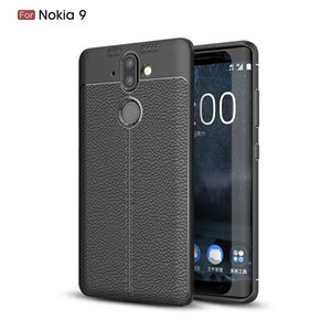 Slim Fit Ultra Thin Carbon Fiber Case for Nokia 9 Leather PU Soft TPU Silicone Rubber Bumper Shockproof Phone Back Cover