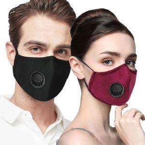Anti Verschmutzung PM2. 5 Mundmaske 5 Schichten Staub Atemschutzmaske mit 2 Stücke filter Waschbar Gesichtsmaske Masken Baumwolle Mund Muffel Radfahren