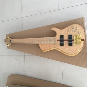 Wholesale Neck Through Body Custom Shop Maple Top Ash Wood 6 Strings Bass Electric Bass Guitar